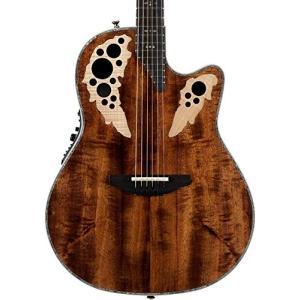 Deep Contour Body Ovation ExoticWoods Collection 6 String Acoustic-Electric Guitar, Right, Koa, Deep Contour Body (C2078AXP-KOA) abareusagi-usa