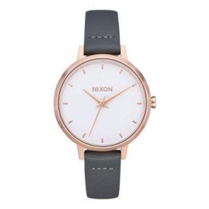 O/S NIXON Medium Kensington Leather A1261 - Rose Gold/Gray - 50m Water Resistant Women's Analog Classic Watch (32mm Watch Face, 12 abareusagi-usa