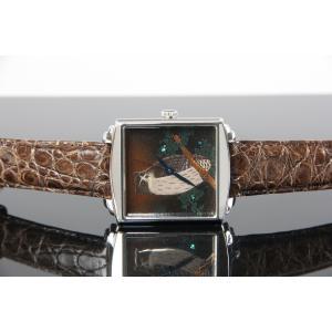 腕時計 代引不可 高級蒔絵時計 浄雅 URUSHI 漆 MAKIE 蒔絵 漆塗り ハンドメイド文字盤 「森の忍者」 自動巻 メンズ 腕時計 G01006|abbeyroad|03