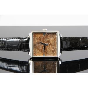 腕時計 代引不可 高級蒔絵時計 浄雅 URUSHI 漆 MAKIE 蒔絵 漆塗り ハンドメイド文字盤 「山水」 自動巻 メンズ 腕時計 G01010 abbeyroad 02