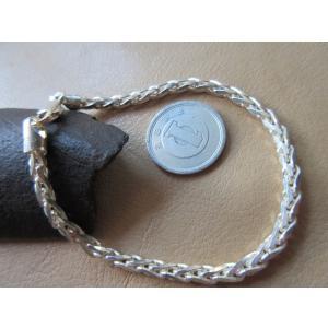 """イタリア製の純銀(Silver925)ブレスレットです。  イタリア語で麦の穂を意味する""""Spiga..."""