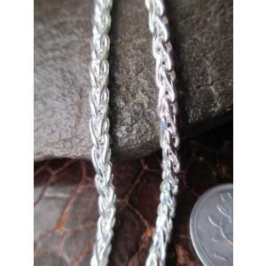 """イタリア製の純銀silver925 のチェーンです。  イタリア語で麦の穂を意味する""""Spiga""""チ..."""