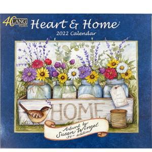 2022年LANG社カレンダー HEART&HOME 2299-1001913 abc-craft