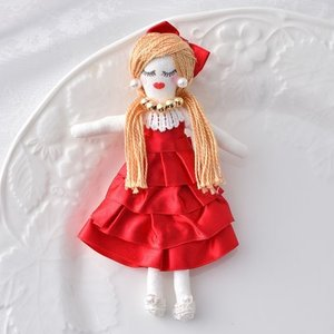 タカギ繊維 人形用ドレスキット レッド メール便/宅配便可  nb-12|abc-craft