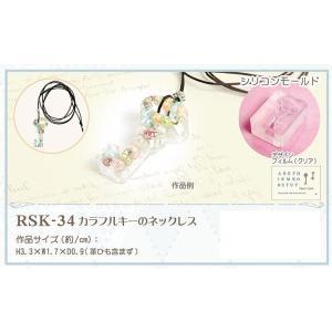 スーパーアイスレジン スターターキット RSK-34 カラフルキーのネックレス レジン/レジンクラフト/アクセサリー/キット/セット 樹脂/パーツ/材料/手芸用品