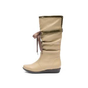 【NUOVO】 ヌオーヴォ レインブーツ 長靴 NC20009 RIBBON RAIN 3 ヒール3cm SP13 OAK|abc-martnet