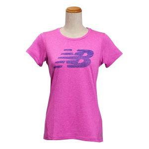 レディース 【NEW BALANCEウェア】 ニューバランス ヘザーショートスリーブ Tシャツ(グラフィックNB) JWTP6050AZH 16SS AZH(アザレアヘザー) abc-martnet