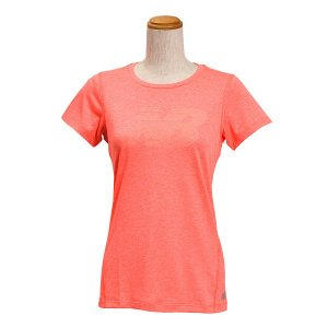 レディース 【NEW BALANCEウェア】 ニューバランス ヘザーショートスリーブ Tシャツ(グラフィックNB) JWTP6050DFH 16SS DFH(ドラゴンフライ) abc-martnet