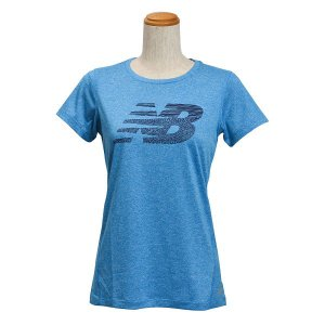 レディース 【NEW BALANCEウェア】 ニューバランス ヘザーショートスリーブ Tシャツ(グラフィックNB) JWTP6050SOH 16SS SOH(ソナーヘザー) abc-martnet