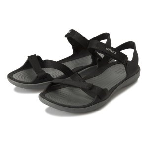 【crocs】 クロックス swiftwater webbing sandal w スイフトウォーターウェビングサンダル 204804-001 black|abc-martnet