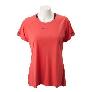 【SAUCONYウェア】W UV LITE SHORT SLEEVE サッカニー ウィメンズTシャツ SAW800249-HB 19SP HIBISCUS|abc-martnet