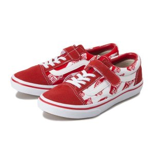 キッズ 【VANS】 ヴァンズ OLD SKOOL (14-22) オールドスクール V36CJ LOGO RED/LOGO|abc-martnet