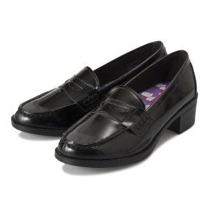 【HAWKINS】 ホーキンス H LOAFER 4.5 ディズニー ヒールローファー4.5 HW10116 DISNEY MINNIE MINNIE BLACK|abc-martnet