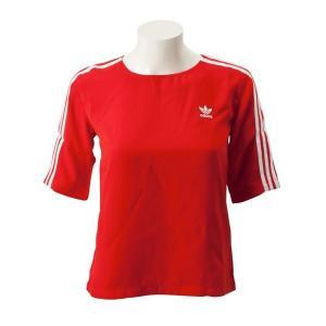 レディース 【ADIDAS ウェア】 アディダスオリジナルス W 3ST TEE(LONG) 3ストライプ Tシャツ DW3888 RED|abc-martnet