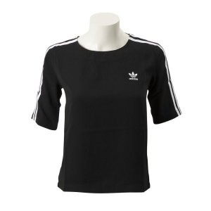 レディース 【ADIDAS ウェア】 アディダスオリジナルス W 3ST TEE(LONG) 3ストライプ Tシャツ DX3695 BLK|abc-martnet