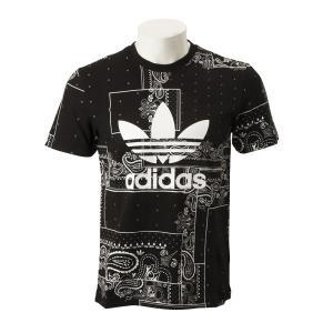 【ADIDAS ウェア】 アディダスオリジナルス M BANDANA TEE バンダナ Tシャツ DX4201 BLK|abc-martnet
