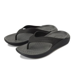 【crocs】 クロックス LiteRide Flip ライトライドフィリップ 205182-0DD Black/SlateGrey|abc-martnet