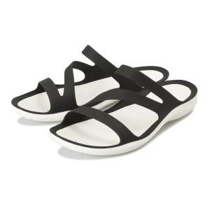 【crocs】 クロックス Swiftwater Sandal W スイフトウォーターサンダル 203998-066 Black/White|abc-martnet