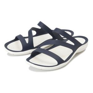 【crocs】 クロックス Swiftwater Sandal W スイフトウォーターサンダル 203998-462 Navy/White|abc-martnet