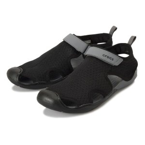 【crocs】 クロックス Swiftwater Mesh Sandal W スイフトウォーターメッシュサンダル 204597-001 Black|abc-martnet