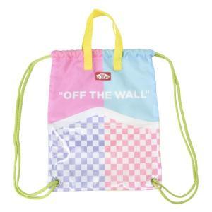キッズ 【VANSウェア】 ジムサック Checker BoysDrawstring Bag チェッカー ボーイズドローストリング バッグ VA19SS-KB51AB 19SP COLOR-1 abc-martnet