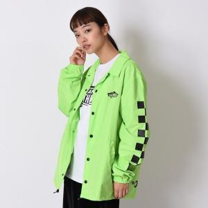 【VANS】Neon Color Coach Jacket ヴァンズ ネオンカラーコーチジャケット VA19SS-MJ04 19SP N-GREEN|abc-martnet