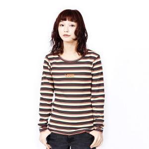【VANSウェア】Border Rib Girls L/S T-Shirt ヴァンズ ロングスリーブTシャツ VA19SS-GT17 19SP GREEN|abc-martnet