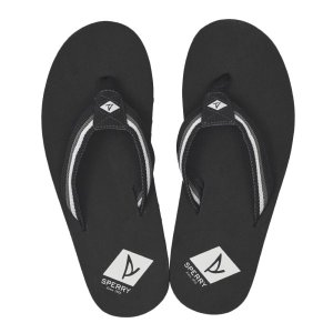 【SPERRY TOPSIDER】 スペリートップサイダー TOPSAIL THONG トップセイル トング STS19564 BLACK/GREY|abc-martnet