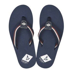 【SPERRY TOPSIDER】 スペリートップサイダー TOPSAIL THONG トップセイル トング STS19154 NAVY/RED|abc-martnet
