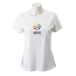 レディース 【NIKE ウェア】 ナイキウェア W PINWHEEL Tシャツ CI1124-100 100WHITE abc-martnet