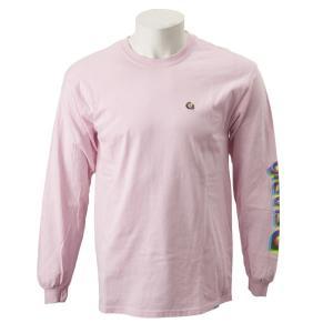 【gravis】Gravis LOGO L/S TEE グラビス ロングスリーブTシャツ GR19SS-MT06 L.PINK|abc-martnet