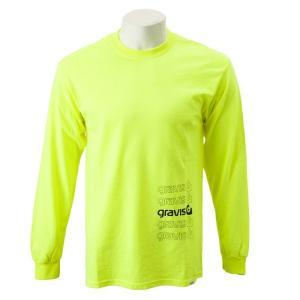【gravis】Gravis Abstract BOXLOGO L/S グラビス ロングスリーブTシャツ GR19SS-MT07 N.YELLOW|abc-martnet