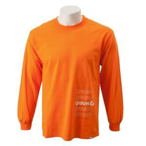 【gravis】Gravis Abstract BOXLOGO L/S グラビス ロングスリーブTシャツ GR19SS-MT07 N.ORANGE|abc-martnet