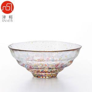 津軽びいどろ はなび金彩ガラス碗 F-71897 和食器 鉢 和食器|abc-wine