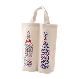 ファンヴィーノ 麻ワインバッグ 2本用 メガネ&ハイ...