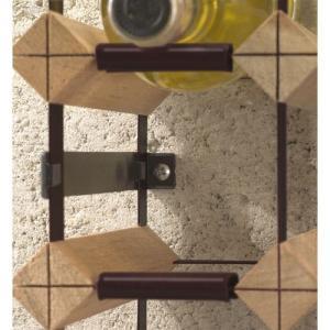 ワインボトルラック ボルデックス マルチコンビネーションラック用アタチェックス(ネジ止倒壊防止パーツ)2本パック×6セット RB004OP|abc-wine