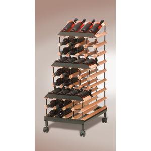 ワインラック ボルデックス ワインラック 3段モバイル 48本用 RB048MO|abc-wine