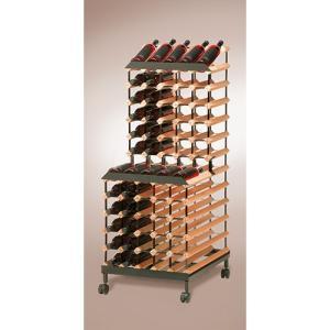 ワインラック ボルデックス ワインラック 2段モバイル 90本用 RB090MO|abc-wine