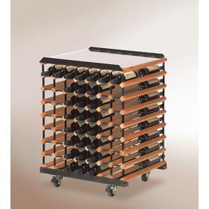 ボルデックス ワインラック モバイルテイスティングテーブル 最大112本 RB112TT|abc-wine