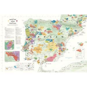 世界ワイン地図 DE LONG Spain-Portugal スペイン&ポルトガル ワインマップ UH102MP|abc-wine