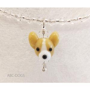 ガラスチョーカー(あづふらここ工房のわんこ玉+ABC-DOGS) コーギー|abcdogs