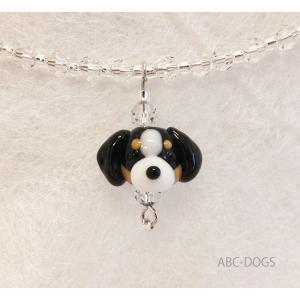 ガラスチョーカー(あづふらここ工房のわんこ玉+ABC-DOGS) バーニーズマウンテンドッグ|abcdogs