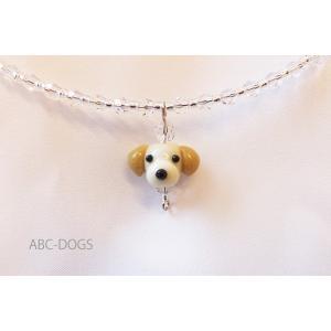 ガラスチョーカー(あづふらここ工房のわんこ玉+ABC-DOGS) ラブラドルレトリバー|abcdogs