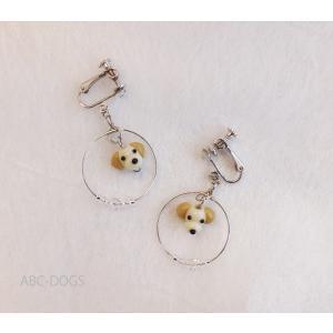 ガラスイヤリング(あづふらここ工房のわんこ玉+ABC-DOGS) ラブラドルレトリバー|abcdogs