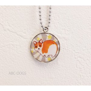 メタルチャーム・オシリ(織田千代+ABC-DOGS) コーギー茶白1|abcdogs
