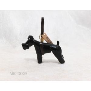 革ストラップ(K・I・G) シュナウザー ブラック abcdogs