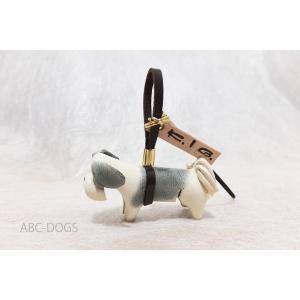 革ストラップ(K・I・G) シーズー グレー×白 abcdogs