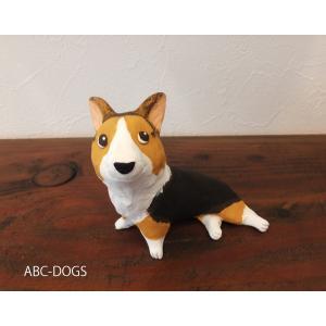 ミディアムサイズ(カワセミ工房) コーギーおすわり6|abcdogs