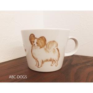 マグカップ(ABC-DOGS-tensh) パピヨン|abcdogs