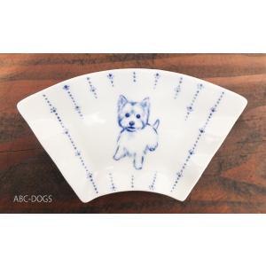 扇小皿(ABC-DOGS-tensh) ウェスティ abcdogs
